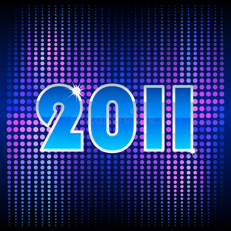 Blue Background For New Year Royalty Free Stock Image