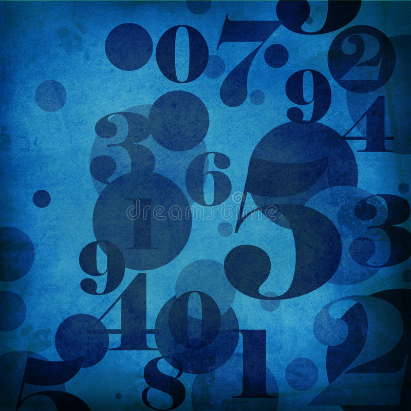 Download Blue Background With  Numbers Stock Illustration - Illustration of antique, graphic: 25500323