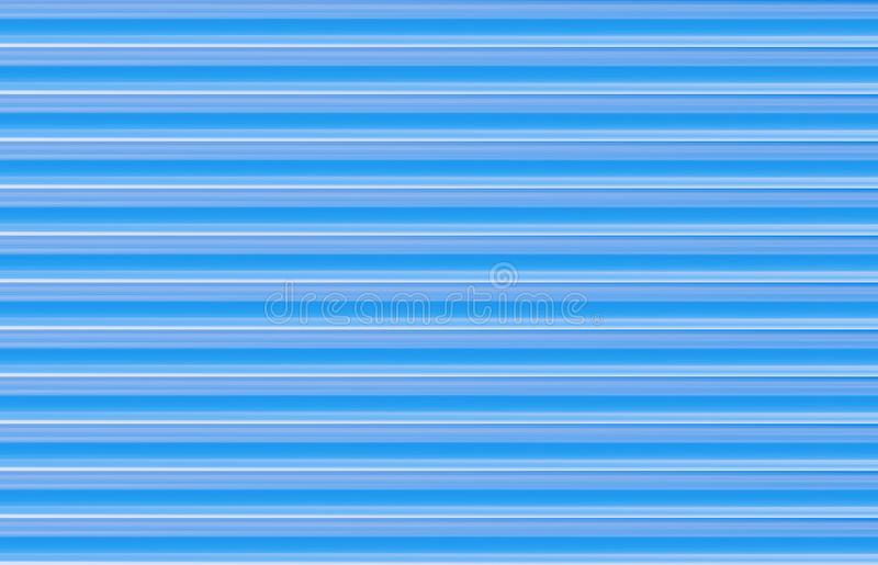 Blue background parallel lines. Texture neon base substrate horizontal rays gradient. Infinite series stock illustration