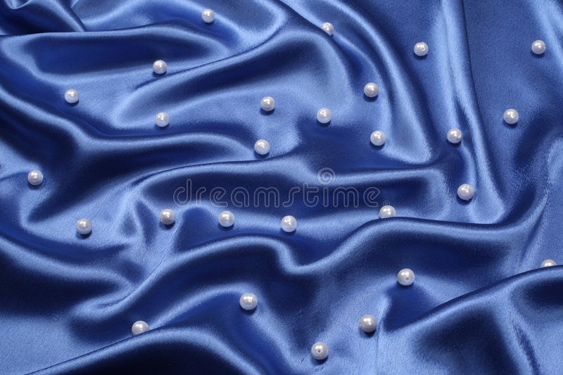 Blue background with pearls stock images
