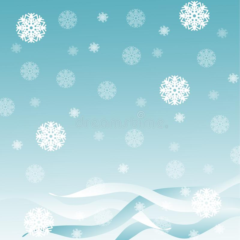 Blue background with snow royalty free stock photos
