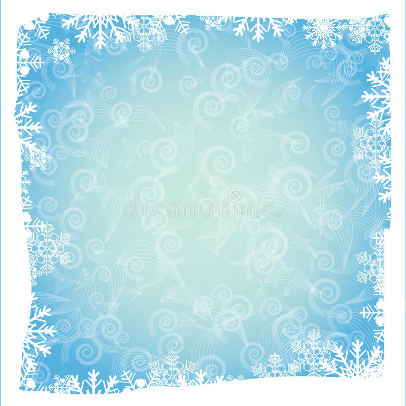 Download Blue Background With Snowflakes Stock Vector - Image: 22073291