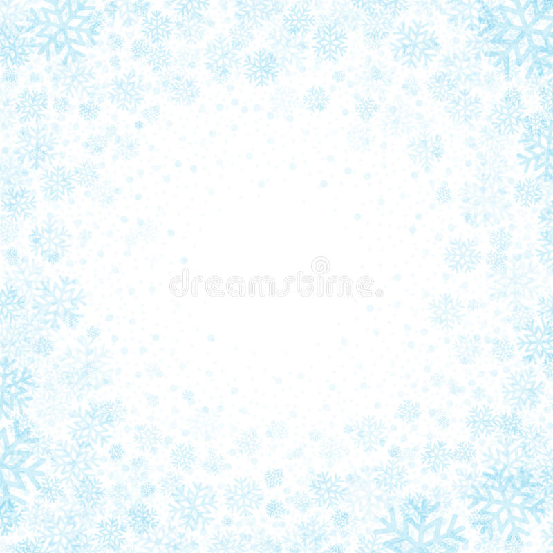 Blue background with snowflakes. Vector. Illustration EPS 10 stock illustration