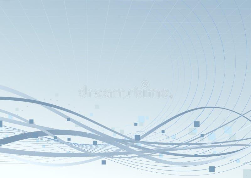 Blue background speed swoosh waves concept. Clip-art vector illustration
