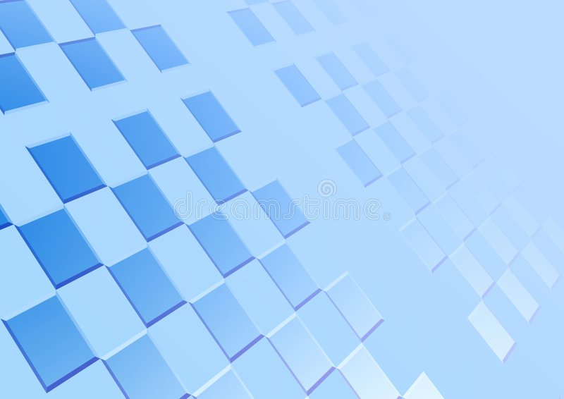 Blue background. Square stock image