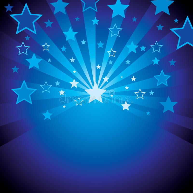 Download Blue background with stars stock vector. Image of party - 10529860