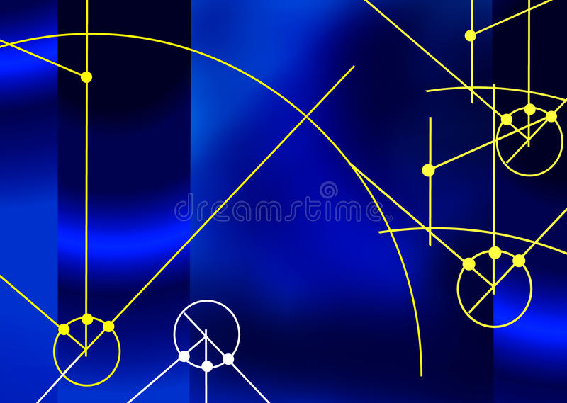 Download Blue Background With Technical Elements Stock Illustration - Image: 16153454