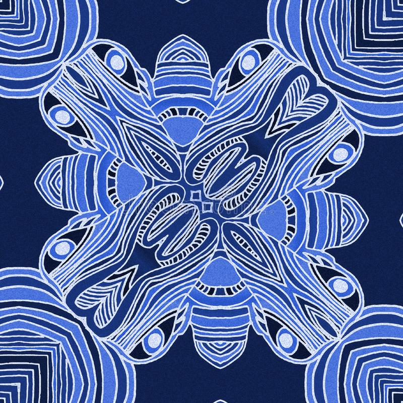Blue background with lines royalty free illustration