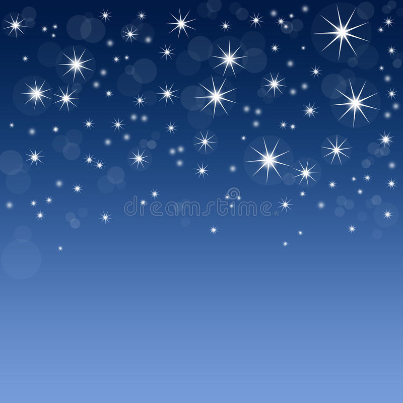 Free Blue Background With Stars Stock Image - 16715081