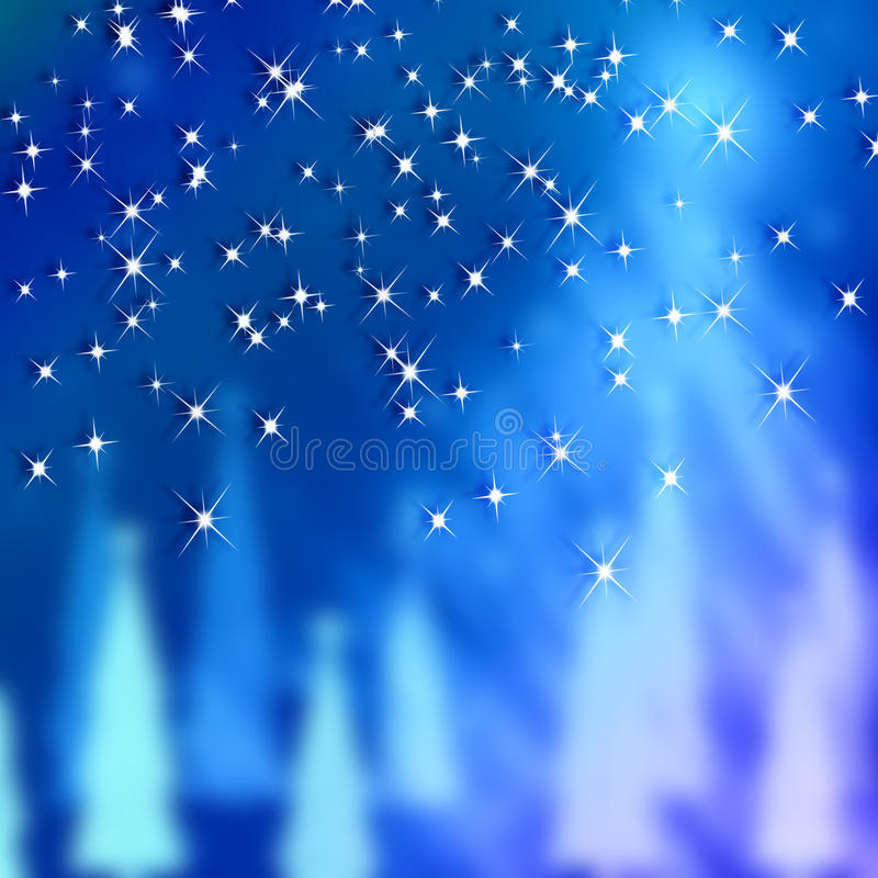 Blue Backgrounds New Year and Christmas vector illustration