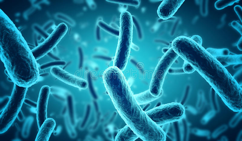 Blue bacteria royalty free illustration