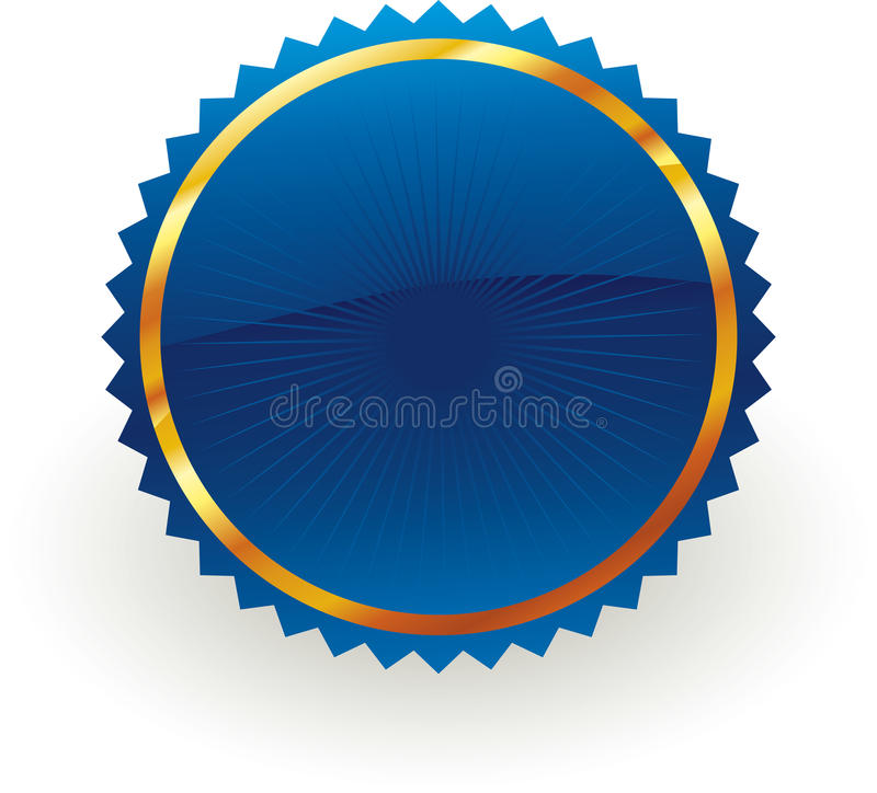 Blue badge stock illustration