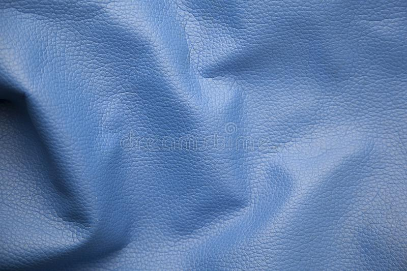 Blue bag background. Blue leather texture bag background royalty free stock photo