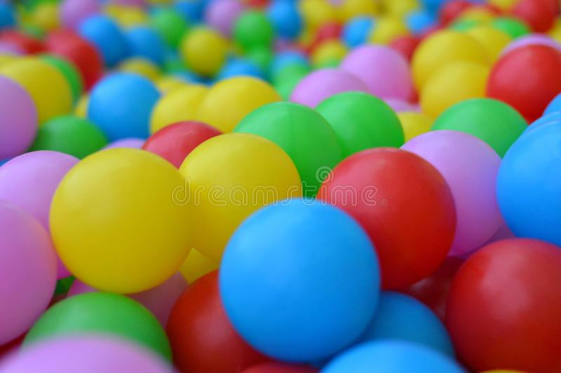 Blue, Ball Pit, Yellow, Easter Egg stock photo