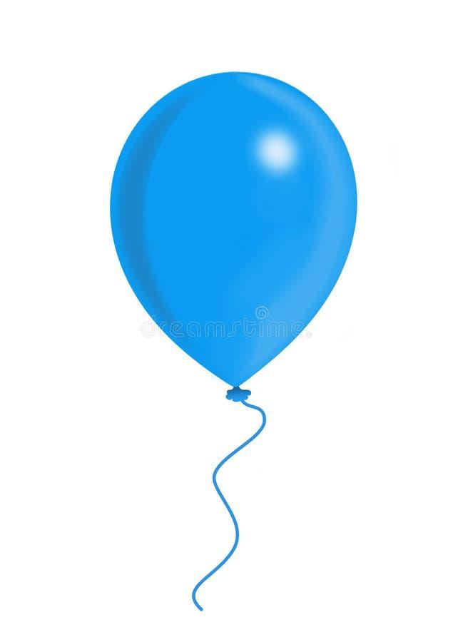 Blue balloon royalty free illustration