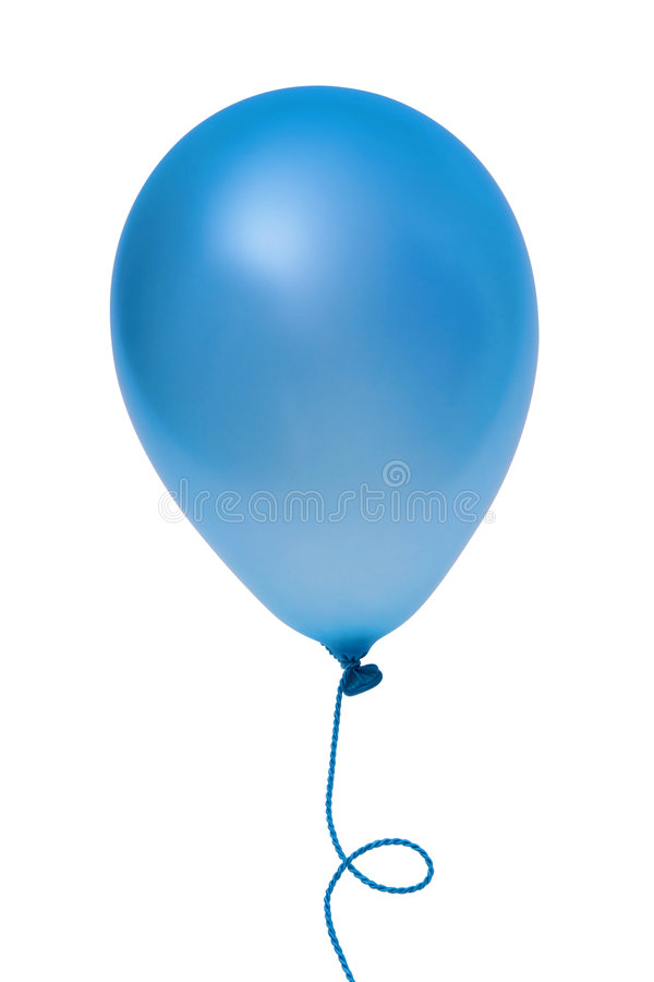 Download Blue balloon stock photo. Image of isolated, string, celebrate - 6912520