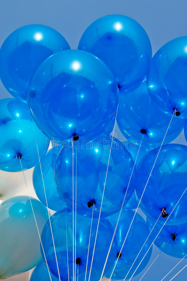 Blue balloon. Colorful in sport day of local primary school in Thailand stock photography