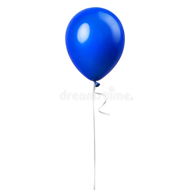 Blue balloon isolated stock image
