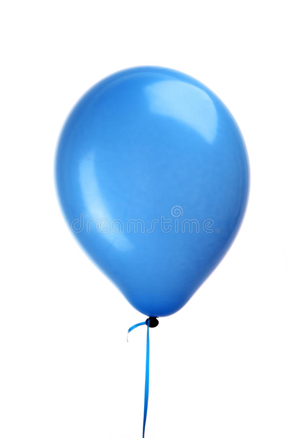Blue balloon with string royalty free stock photo
