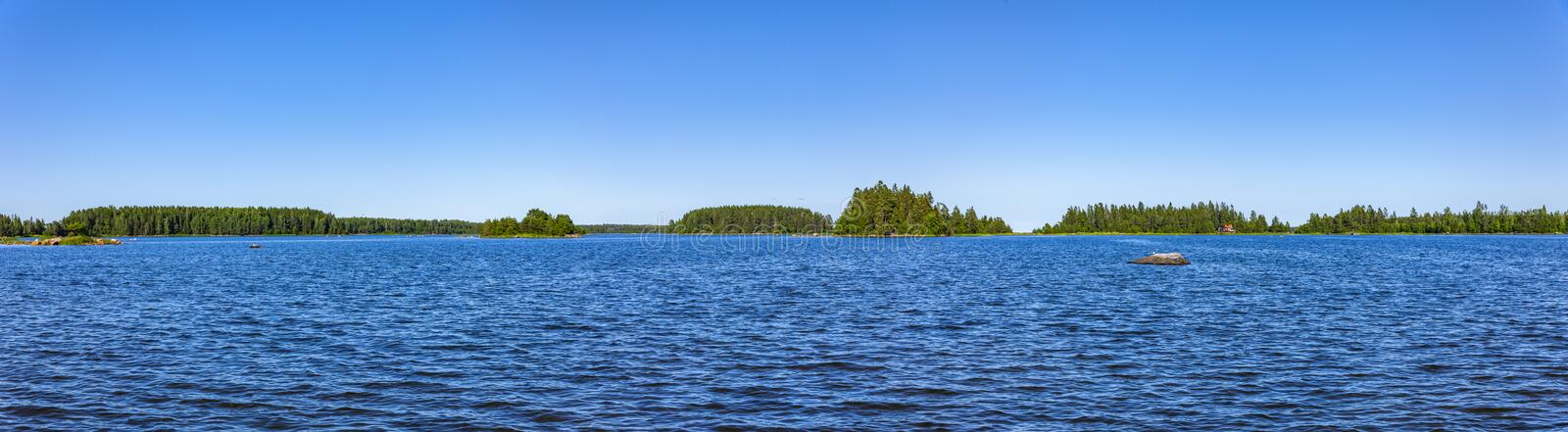 Blue Baltic Sea in Sweden. With blue sky royalty free stock images