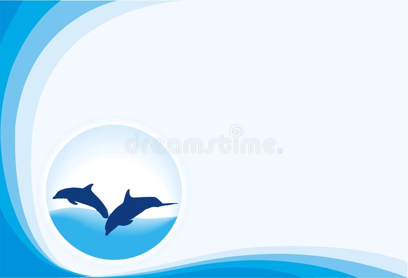 Blue Band Dolphins Royalty Free Stock Images