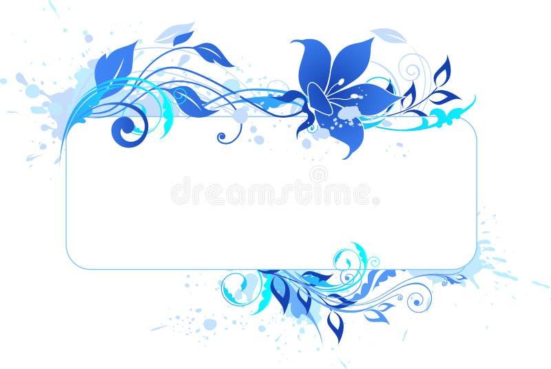 Download Blue banner stock vector. Image of swirl, blue, grunge - 22016618
