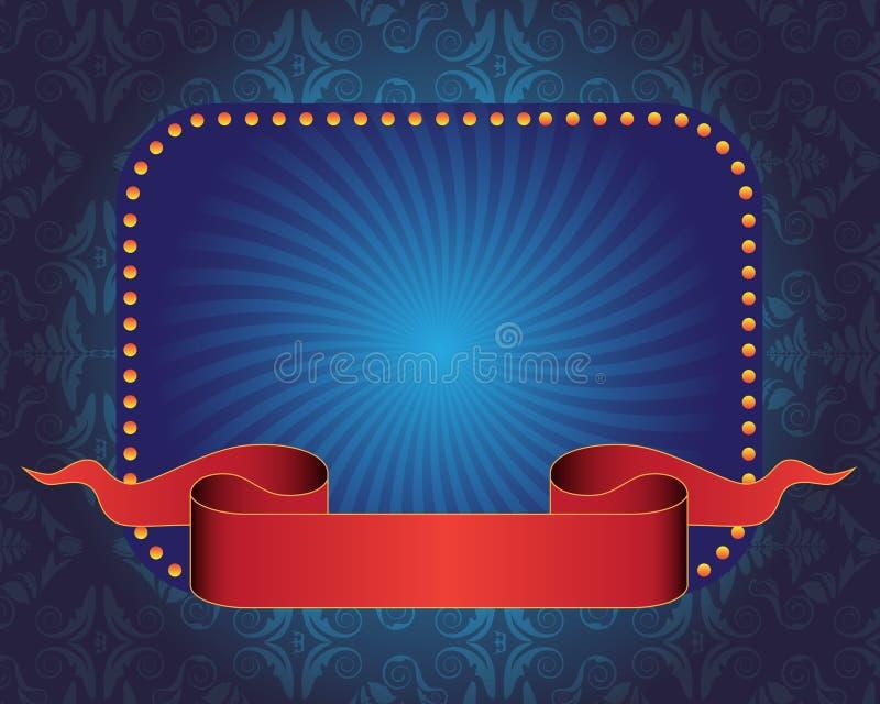Blue banner and ribbon vector illustration