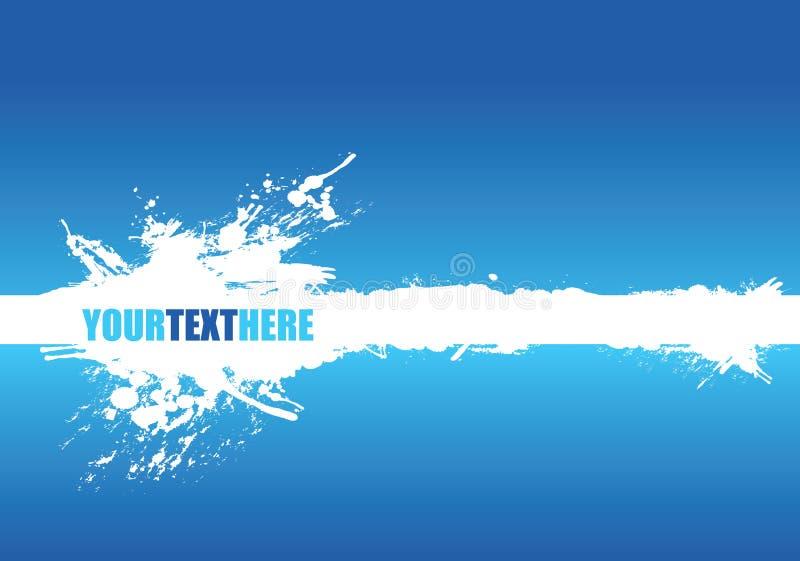 Blue banner splash royalty free stock image