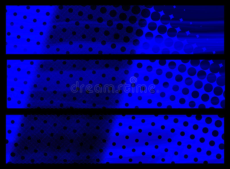Blue banners stock photos
