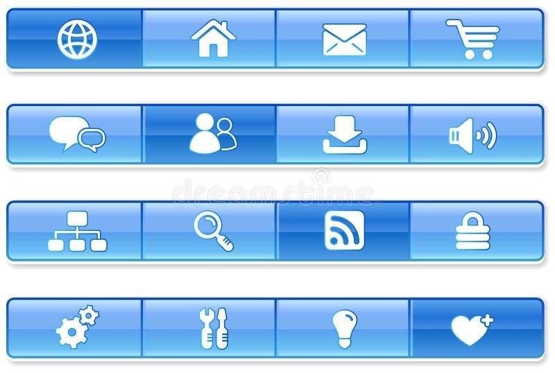 Blue Bar Internet Icons vector illustration