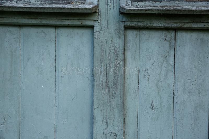 Blue barn wooden wall planking wide texture. Old wood slats rustic shabby background. Paint Peeled Azure Weathered Isolated Surface stock photos