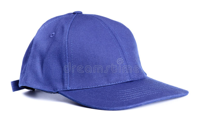 Blue baseball cap stock images