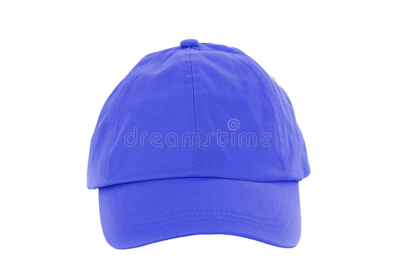 Blue Baseball Cap Isolated On White Stock Photography