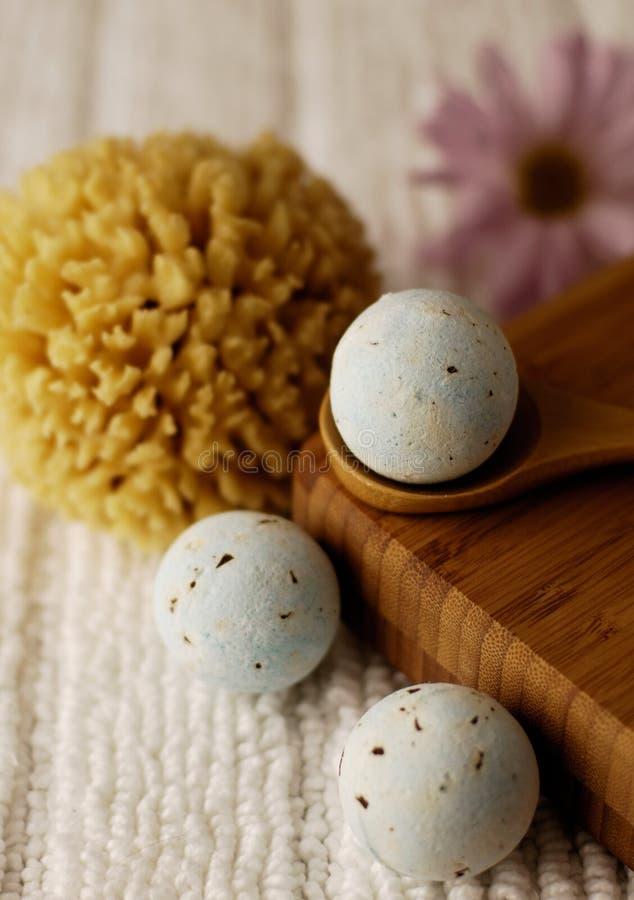 Blue Bath Fizzies stock image