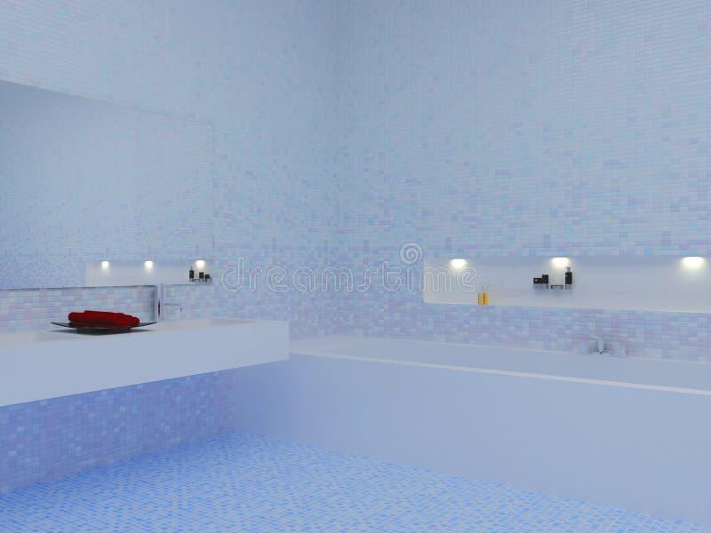 Blue bathroom vector illustration