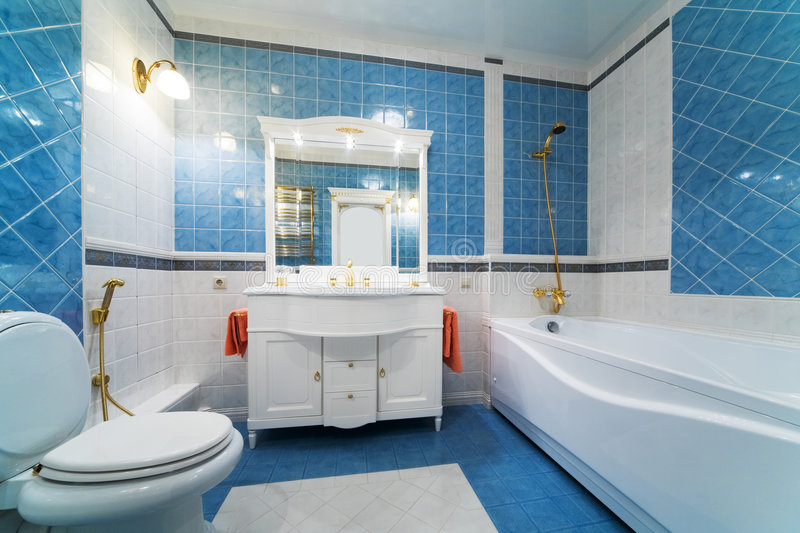 Download Blue bathroom stock photo. Image of apartment, home, care - 8129078