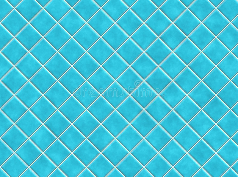 Blue Bathroom Tiles. In Abstract Diagonal Background vector illustration