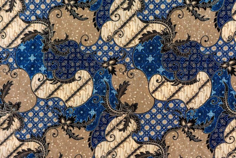 blue batik fabric royalty free stock photo