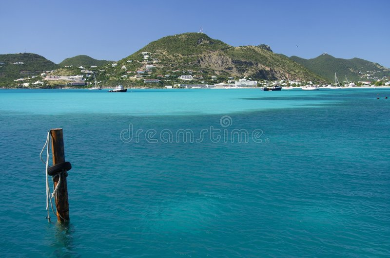 blue bay fotografia stock