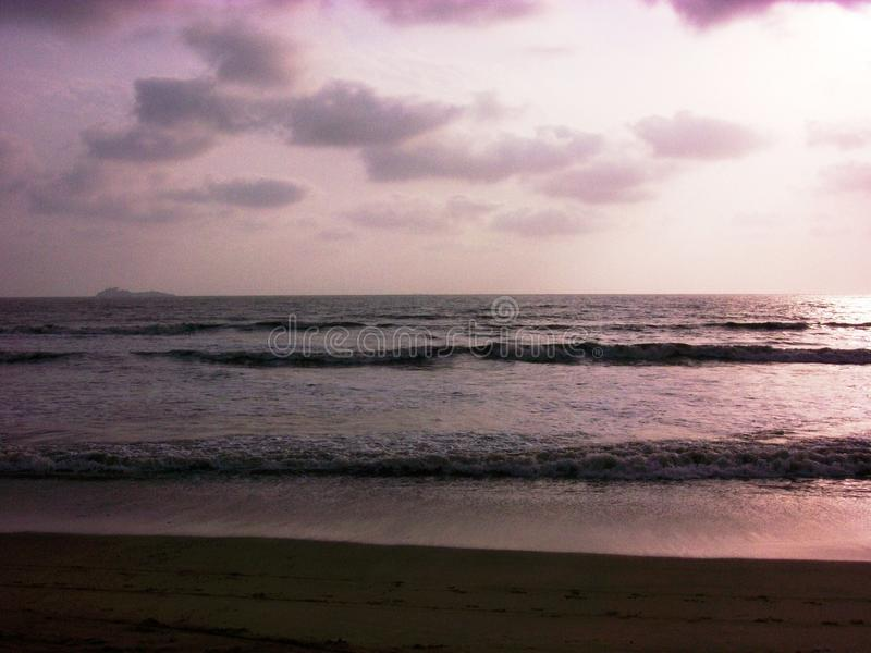 Blue beach stock image