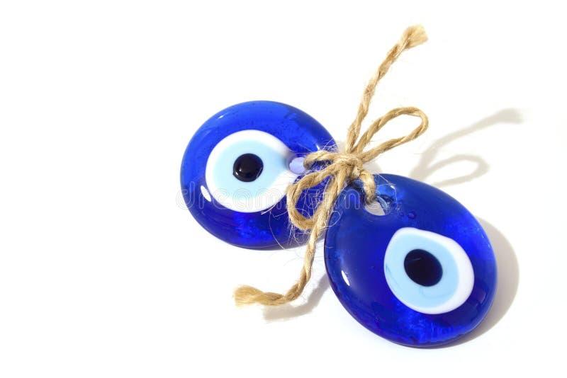 Blue Bead. On white background stock image