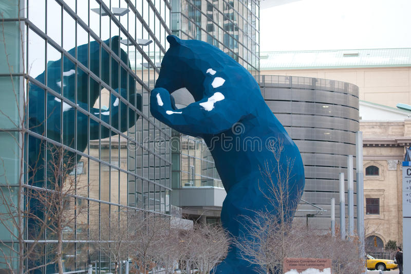 Blue Bear at Denver Convention Center. Blue Bear outside Denver Convention Center stock images