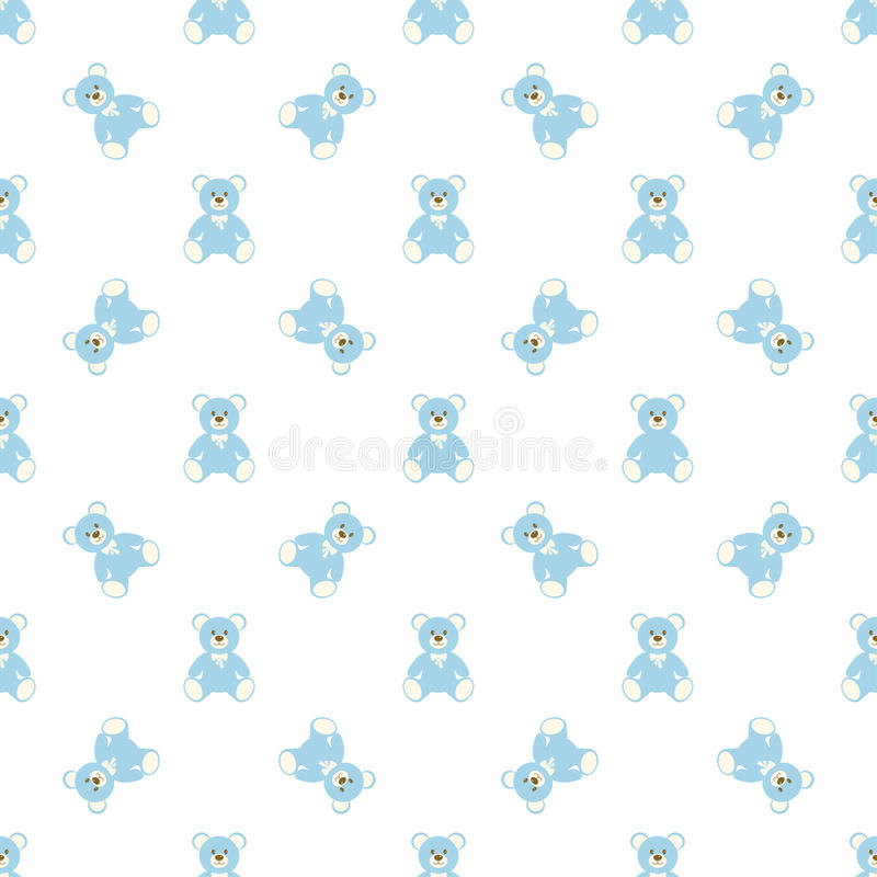 Blue bear pattern stock illustration