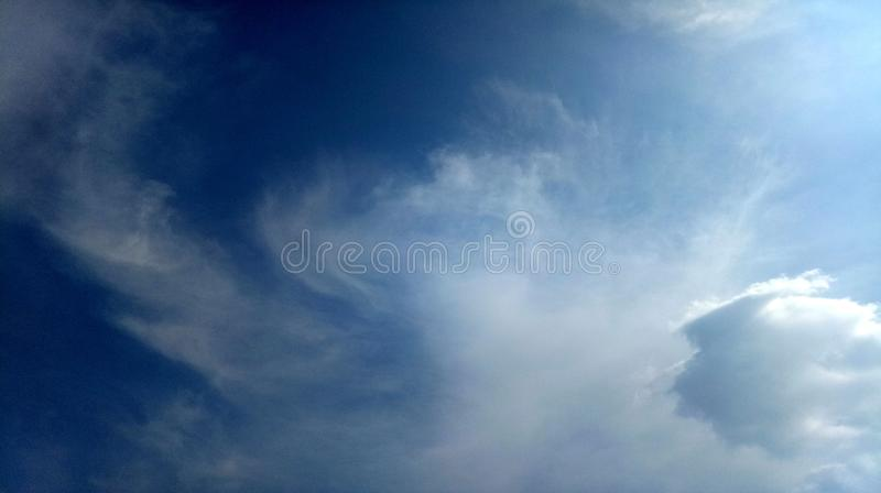 Blue beautiful nature Clouds sky beautiful cloudy day background wallpaper. Many uses for advertising, book page, paintings, printing, mobile backgrounds, book stock photos