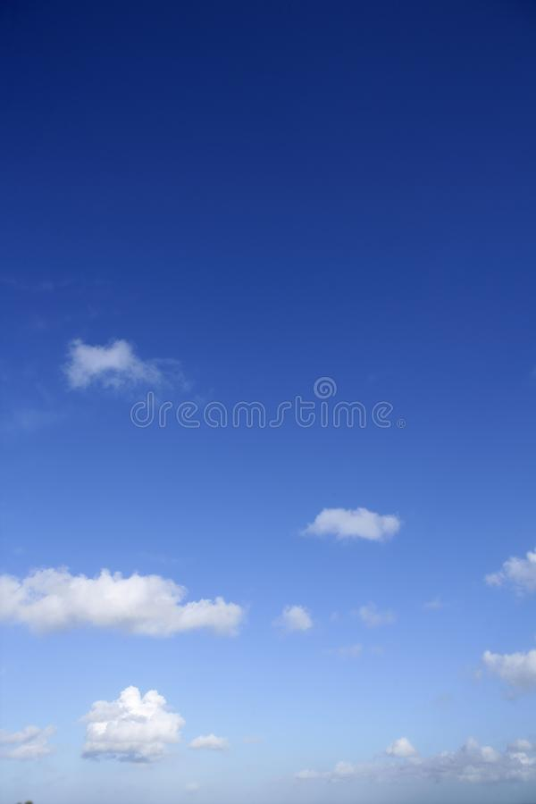 Blue beautiful sky with white clouds view in sunny. Day, nature royalty free stock images