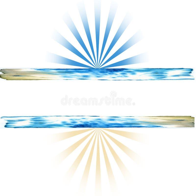 Download Blue Beige Sunrise Background Stock Illustration - Illustration: 17987202