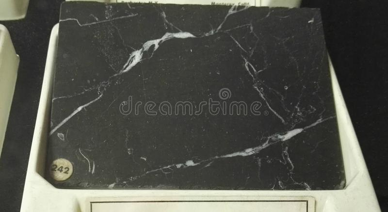 Blue belge marble sedimentary rocks stock photography