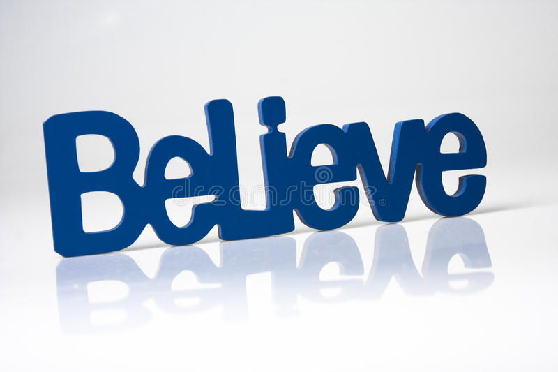 Blue believe royalty free stock photos