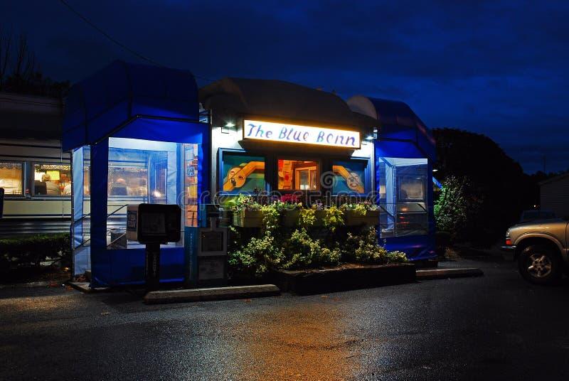 Blue Benn Diner, um clássico restaurante de trem em Bennington, Vermont fotos de stock royalty free