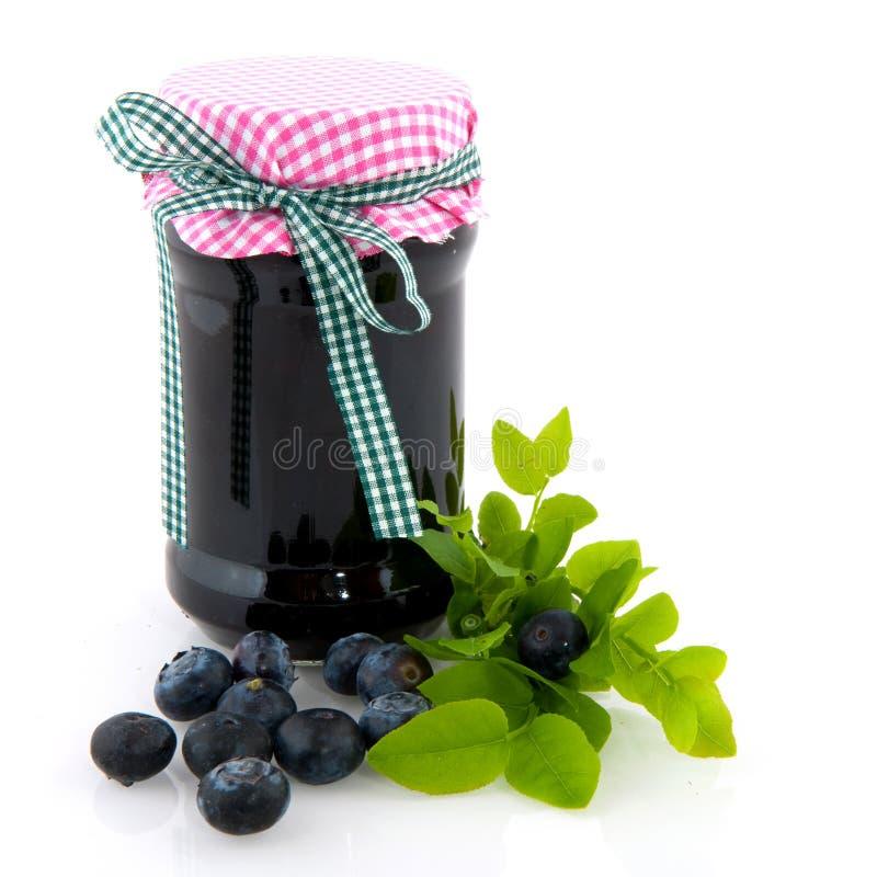 Blue berry jam royalty free stock photos